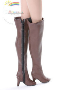 "Over Knee Thigh High-Heel Wide Boots Shoes Brown for 16"" Tonner Tyler/Gene dolls"