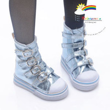 Buckles Ankle Leather Sneakers Boots Shoes Metallic Water for SD Dollfie dolls