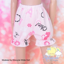 "Doll Clothes Pink Tower Cat Bloomers Pants for Tyler/Ellowyne/14"" Kish/MSD BJD"