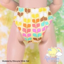"Doll Clothes Underwear Yellow Rainbow Undies for Tyler/Ellowyne/14"" Kish/MSD BJD"