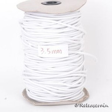 5mm Elastic Cord String White for Stringing BJD Antique Bisque/Vinyl Doll 5yards