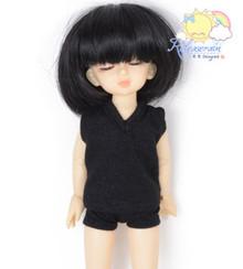 "Black Wool Blend Vest Briefs Sleepwear Outfit for Yo-SD Dollfie/12"" Kish Dolls"