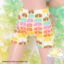 "Doll Clothes Yellow Rainbow Boxers Shorts for Tyler/Ellowyne/14"" Kish/MSD BJD"