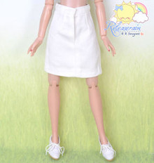 Doll Clothes A-Line Office White Skirt for Tonner Tyler Ellowyne Wilde Unoa MSD