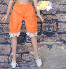 "Doll Clothes Fluffy Lace Bloomers Pants Orange for 16"" Tyler Ellowyne Wilde MSD"