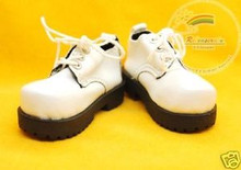 Dollfie MSD Lace-Up Leather Shoes #BB15 White