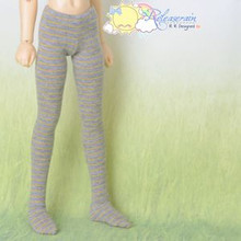 Doll Clothes Pantyhose Tights Yellow Stripe/Grey for MSD Kaye Wiggs Minifee BJD