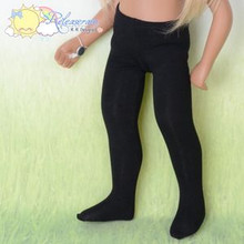 "Doll Clothes Stretch Knit Pantyhose Stockings Tights Black for 16"" Sasha Dolls"