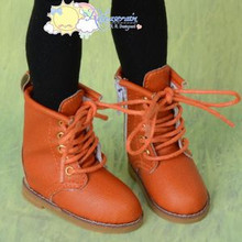 "Martin Stitch Shoes Boots Orange for MSD BJD Dollfie Kaye Wiggs 16"" Sasha Dolls"