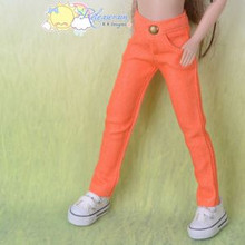 "Doll Clothes Candy Jeans Pants Orange for 12"" Tonner Marley Wentworth Dolls"