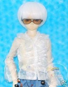 Dollfie SD Sunglasses Black Frame Yellow Brn Lens #RS05