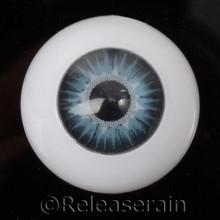 Doll Acrylic Eyes Half Round Ocean Sun #R003 20mm for BJD Dollfie, Reborn Dolls