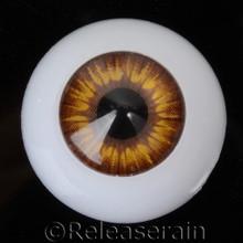 Doll Acrylic Eyes Half Round Caramel Brown Sun #R004 20mm for BJD Dollfie, Reborn Dolls
