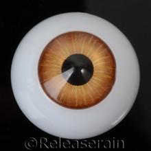 Doll Acrylic Eyes Half Round Burnt Orange #R008 20mm for BJD Dollfie, Reborn Dolls
