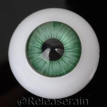Doll Acrylic Eyes Half Round Forest Green #R009 20mm for BJD Dollfie, Reborn Dolls