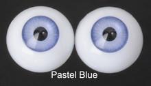 Doll Acrylic Eyes Half Round Pastel Blue #R001 18mm for BJD Dollfie, Reborn Dolls