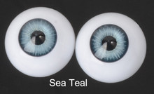 Doll Acrylic Eyes Half Round Sea Teal #R006 18mm for BJD Dollfie, Reborn Dolls