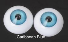 Doll Acrylic Eyes Half Round Caribbean Blue #R014 18mm for BJD Dollfie, Reborn Dolls