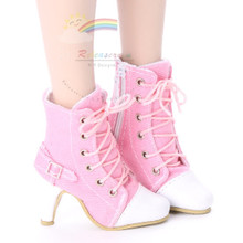 """Ankle Sneakers Heel Shoes Boots Pink for 22"""" Tonner American Model Dolls"""