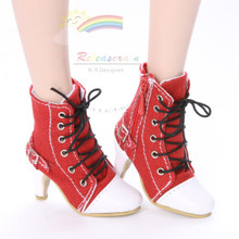 """Ankle Sneakers Heel Shoes Boots Red for 22"""" Tonner American Model Dolls"""