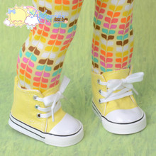 """Cons Canvas Sneakers Shoes Boots Yellow for 18"""" American Girl Dolls"""
