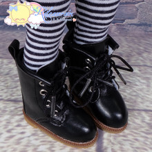 """Doll Shoes Martin Lace-Up Stitching Boots Black for Yo-SD BJD Dollfie, Littlefee, 12"""" Kish Dolls"""