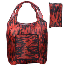 Releaserain Lightweight Handy Waterproof Red Black Bamboo Forest Folding Hobo Tote Bag Packable Foldable Portable Handbag for Shopping Outdoor Beach Gym Carry On Travel
