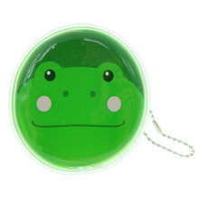 Cute Animal Frog Round Shape Plastic Coin Purse Pouch Wallet Cash Bag Ball Chain Keychain Japan Import