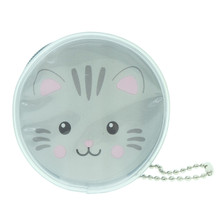 Cute Animal Mouse Round Shape Plastic Coin Purse Pouch Wallet Cash Bag Ball Chain Keychain Japan Import