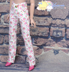 """16"""" Fashion Doll Clothes Jeans Pants Strawberry Denim White for Tonner Tyler Ellowyne Wilde"""