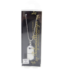 Yamada Atomizer Japanese Aroma Perfume Fragrance Essential Oil Aromatherapy Diffuser Capsule Pendant with Ball Chain Necklace Silver Color Japan Import Made in Japan