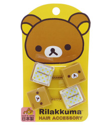 Sho-Bi San-X Rilakkuma Bear Reflector Hair Accessories Hair Cubes Elastic Bands Ponytail Pigtails Holder Ties Japan Import Made in Japan