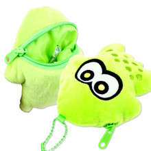 Sun Art Japan Nintendo Splatoon Green Squid Die-Cut Plush Doll Coin Purse SPT-13