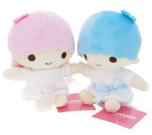 Nakajima Sanrio Little Twin Stars 40th Anniversary Kiki Lala 12cm Plush Doll Set Japan Import