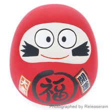Japanese Culture Mascot Ceramic Red Cute Daruma Good Luck Fortune Doll Piggy Bank Made in Japan