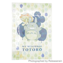 Nibariki Studio Ghibli My Neighbor Totoro A4 Clear Green File Folder Made in Japan Set of 10 Pieces