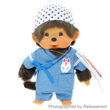 Original Sekiguchi Monchhichi Kun Boy Fox Fireworks Jinbei 19cm Stuffed Plush Doll Japan Import