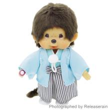 Original Sekiguchi Monchhichi Boy Gala Hakama Kimono S Size 20cm Stuffed Plush Doll Japan Import