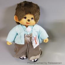 Original Sekiguchi Monchhichi Boy Gala Hakama Kimono L Size 45cm Stuffed Plush Doll Japan Import