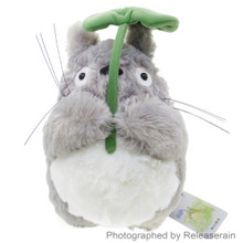 Sun Arrow Studio Ghibli My Neighbor Totoro Holding Leaf 25cm Height S Size Fluffy Stuffed Plush Doll Japan Import
