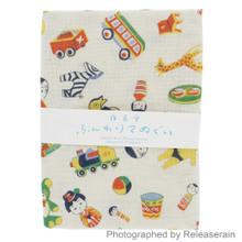 Yonagadou Japanese Cotton Guaze Tenugui Hand Towel Retro-Whimsy Made in Japan