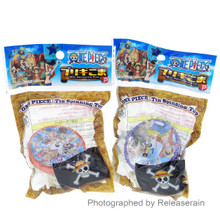 Plex One Piece Toy Tin Spinning Top with String Set of 2 Red & Blue Japan Import