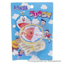 Wakamatsuya Epoch Japan Fujiko-Pro Doraemon Toy Tin Spinning Top with String