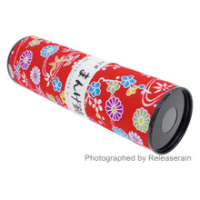 Traditional Japanese Cultural Classic Toy Kaleidoscope Mangekyou Flowers Leaves Made in Japan