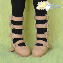 Copy of Yo-SD Dollfie 4-Strap Mary Jane Shoes Boots Grey