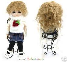 Unoa Yo-SD Dollfie Cute Milk Brown Short Wavy 6-7 Wig