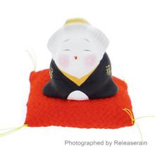 Traditional Japanese Ceramic Otafuku Fortune Lady Miniature Doll Figure Made in Japan
