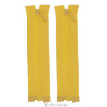 """4"""" Tiny Separating DIY Doll Clothes Jacket Nylon Coil Size #0 Open End Sewing Zippers Orange Set of 2 Pieces"""