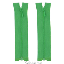 "4"" Tiny Separating DIY Doll Clothes Jacket Nylon Coil Size #0 Open End Sewing Zippers Green Set of 2 Pieces"