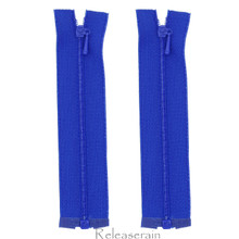 "4"" Tiny Separating DIY Doll Clothes Jacket Nylon Coil Size #0 Open End Sewing Zippers Royal Blue Set of 2 Pieces"